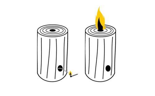woodson<sup>®</sup> Fireplace candle
